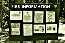 The Rim Fire information board