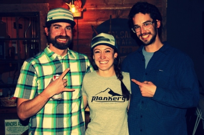 Ben, Claire and Augie- find them at the Crankery/Plankery off 14th, on your way to the mountain.