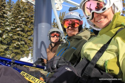 On the lift headed up Summit!