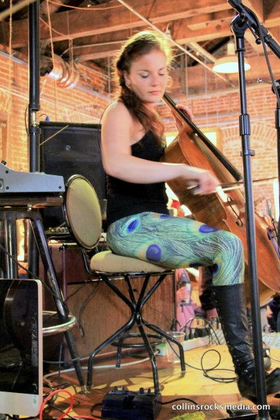 Local cellist Jillian Bloom performing at The Workhouse.