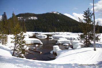 Devils Lake thawing.