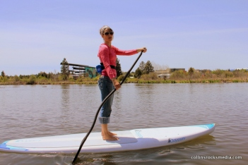 Sue Fox, paddle board and water sports extraordinaire for Tumalo Creek Kayak and Canoe