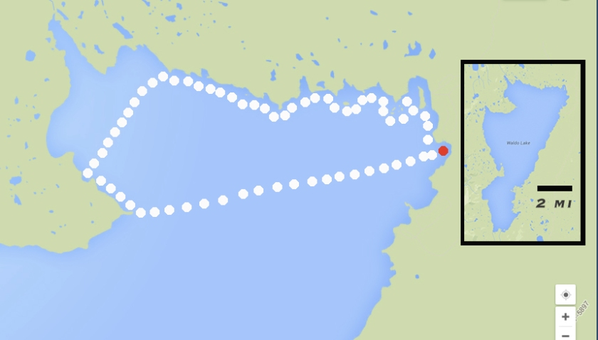 Approximate route paddled